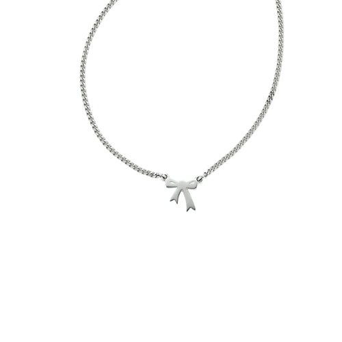 Silver Mini Bow Necklace