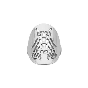 Silver Fly Cutout Ring