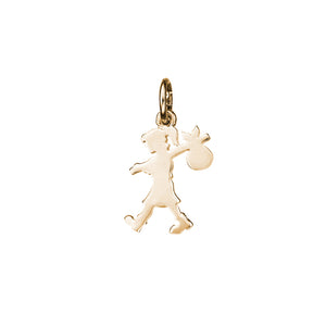 9ct Gold Small Runaway Girl Charm