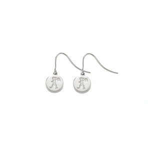 Silver Runaway Stamp Earrings