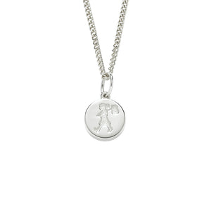 Silver Runaway Stamp Necklace