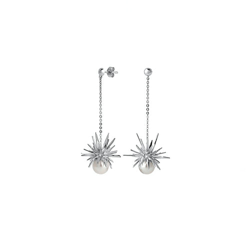 Silver Forbidden Drop Earrings