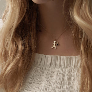 9ct Yellow Gold Runaway girl with Acorn