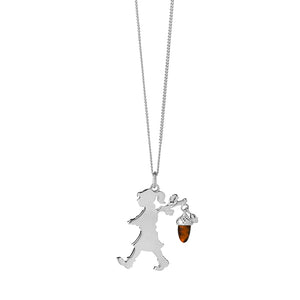 Silver Runaway girl with Acorn