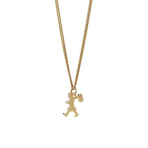 9ct Yellow Gold Mini Runaway Girl Necklace