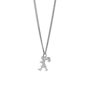 Silver Mini Runaway Girl Necklace