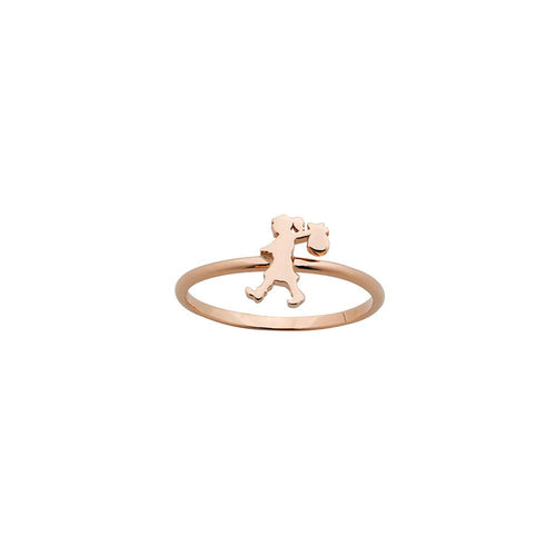 9ct Rose Gold Mini Runaway Girl Ring