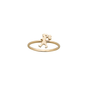 9ct Yellow Gold Mini Runaway Girl Ring