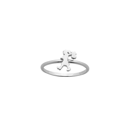 Silver Mini Runaway Girl Ring