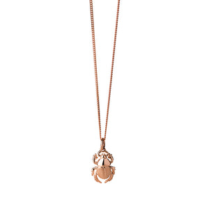 9ct Rose Gold Beetle Necklace