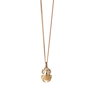 9ct Yellow Gold Beetle Necklace