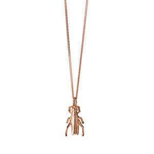 9ct Rose Gold Grasshopper Necklace
