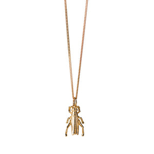 9ct Yellow Gold Grasshopper Necklace