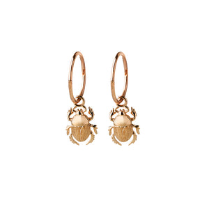 9ct Yellow Gold Beetle Sleeper Earrings