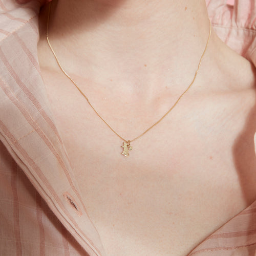 9ct Rose Gold Runaway Rat Necklace