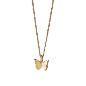 9ct Yellow Gold Mini Butterfly Necklace