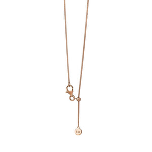 9ct Rose Gold Mini Horseshoe Necklace