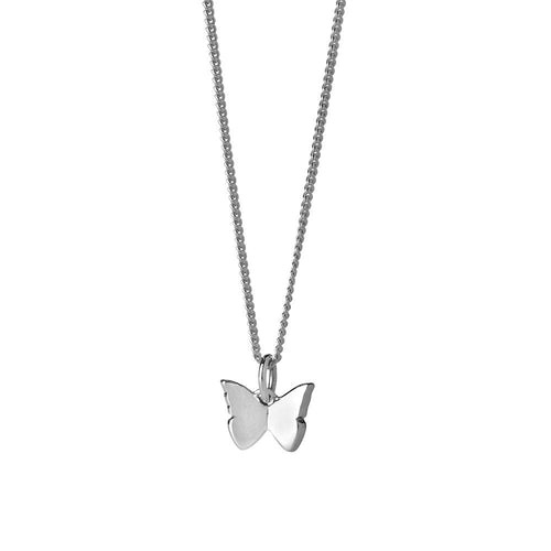 Silver Mini Butterfly Necklace