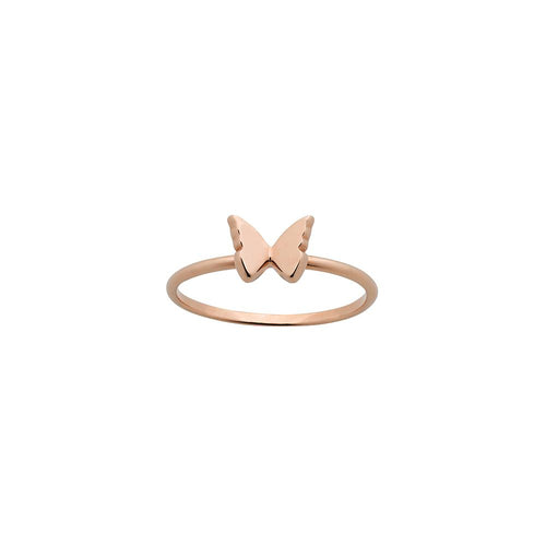 9ct Rose Gold Mini Butterfly Ring