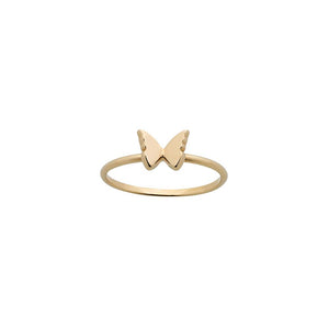9ct Yellow Gold Mini Butterfly Ring