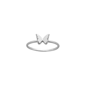 Silver Mini Butterfly Ring