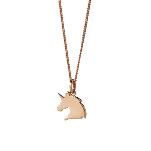 9ct Rose Gold Mini Unicorn Necklace