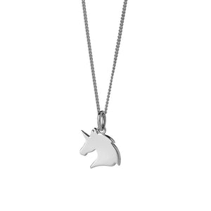 Silver Mini Unicorn Necklace