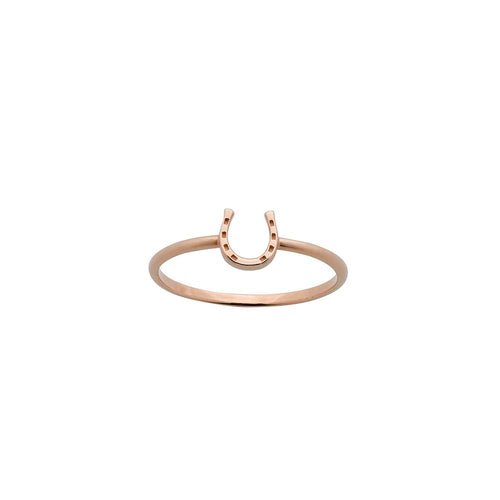 9ct Rose Gold Mini Horseshoe Ring