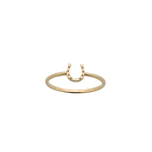 9ct Yellow Gold Mini Horseshoe Ring