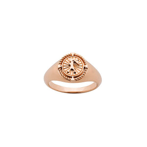 9ct Rose Gold Voyager Signet Ring