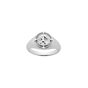Silver Voyager Signet Ring