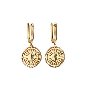 9ct Yellow Gold Voyager Earrings