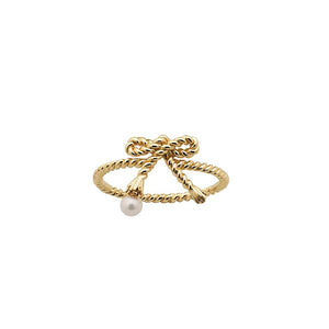 Karen Walker Sterling Silver Love Knot Ring