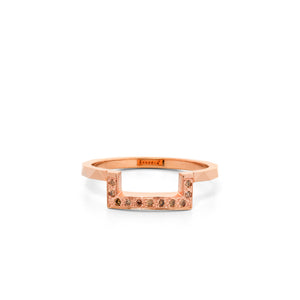 9ct Rose Gold Euphoria Champagne Diamond Band