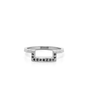 9ct White Gold Euphoria Black Diamond Band