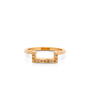 9ct Yellow Gold Europhia Champagne Diamond Band