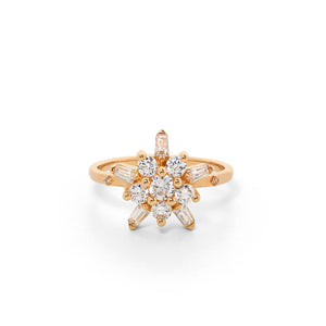 9ct Yellow Gold True Love Diamond Ring