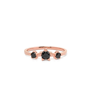 9ct Rose Gold Paradise Black Diamond Ring