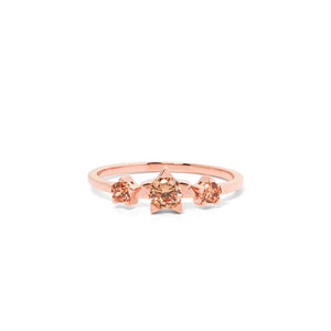 9ct Rose Gold Paradise Champagne Diamond Ring