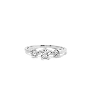 9ct White Gold Paradise Diamond Ring