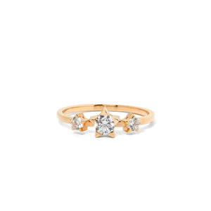 9ct Yellow Gold Paradise Diamond Ring