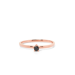 9ct Rose Gold Forever Black Diamond Ring