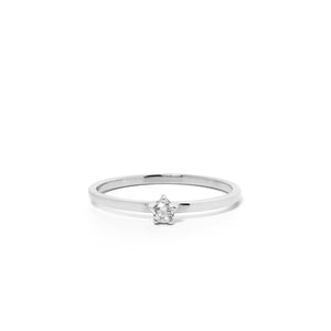 9ct White Gold Forever Diamond Ring