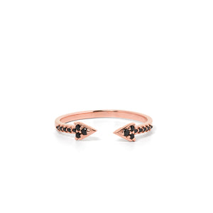 9ct Rose Gold Forever Black Diamond Band
