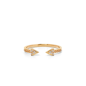 9ct Yellow Gold Forever Diamond Band