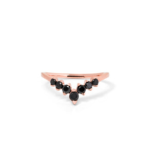 9ct Rose Gold Paradise Black Diamond Band