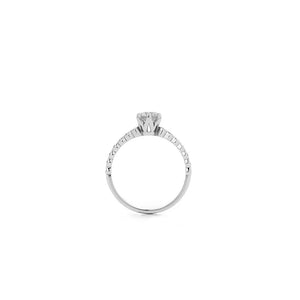 18ct White Gold Devotion Ring TDW .64CT