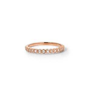 9ct Rose Gold Honour Band TDW .23CT