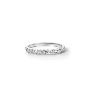 18ct White Gold honour band TDW .23CT