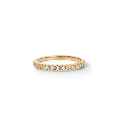 9ct Yellow Gold Honour Band TDW .23CT
